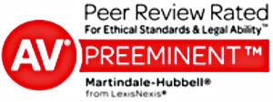 Peer Review Rated AV Preeminent by Martindale-Hubbell